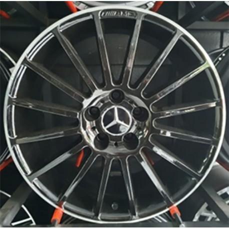 Roda Raw KL Mercedes AMG 5x112 CM3 tala 8/5 ET 45 Preto c/ Borda Diamante