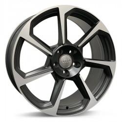 Roda Raw Audi TT RS aro 19 5x112 tala 8/5 ET 42 Preto Acetinado Diamante