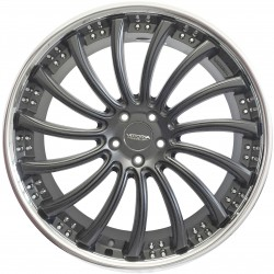 Roda Vittoria London aro 20 5x114 tala 8/5 ET 41 Grafite c/ borda Diamante